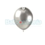 Balon latex shiny argintiu, 13 cm AB50.89