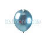 Balon latex shiny albastre, 13 cm AB50.92