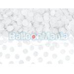 Confeti rotund alb hartie, 15 gr KONS41-008