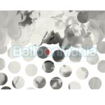 Confeti rotund argintiu, folie, 15 gr KONS45-018