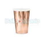 Pahare carton rose gold 6/set KPP35-019R