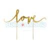 Decor tort Love auriu KPT1-019M
