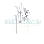 Decor tort Mr & Mrs argintiu KPT10-018M