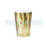 Pahare carton auriu 6/set KPP57-019ME