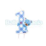 Lumanare 1 an ursulet albastru, PF-SJNM