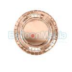 Farfurii roz gold 18 cm 6/set TPP35-019R