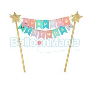 Decor tort Happy Birthday QT-DTHB