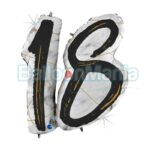Balon folie 18 Negru Marble, 97 cm 31008