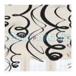Set 12 serpentine decorative negre, 55,8 cm 67055-10
