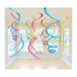 Set 12 serpentine decorative curcubeu, 55,8 cm 67055-90
