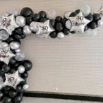 Semiarcade organice din baloane latex si folie ARCO2